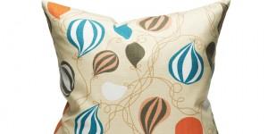 Balloons - Sand/Orange 50x50