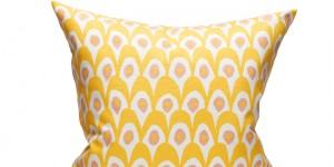 Circus Bird - White/Yellow 50x50