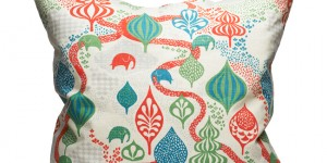 Saga Forest - White/Red 65x65