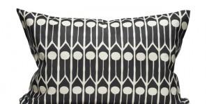 Feathers - Black/White 60x40