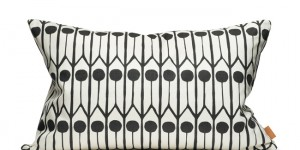 Feathers - White/Black 60x40