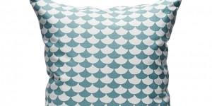 Waves - White/Blue 50x50