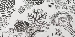 Aquatic Fabric Black/white