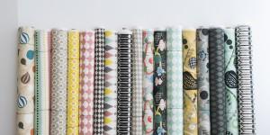 Textile Rolls Closeup